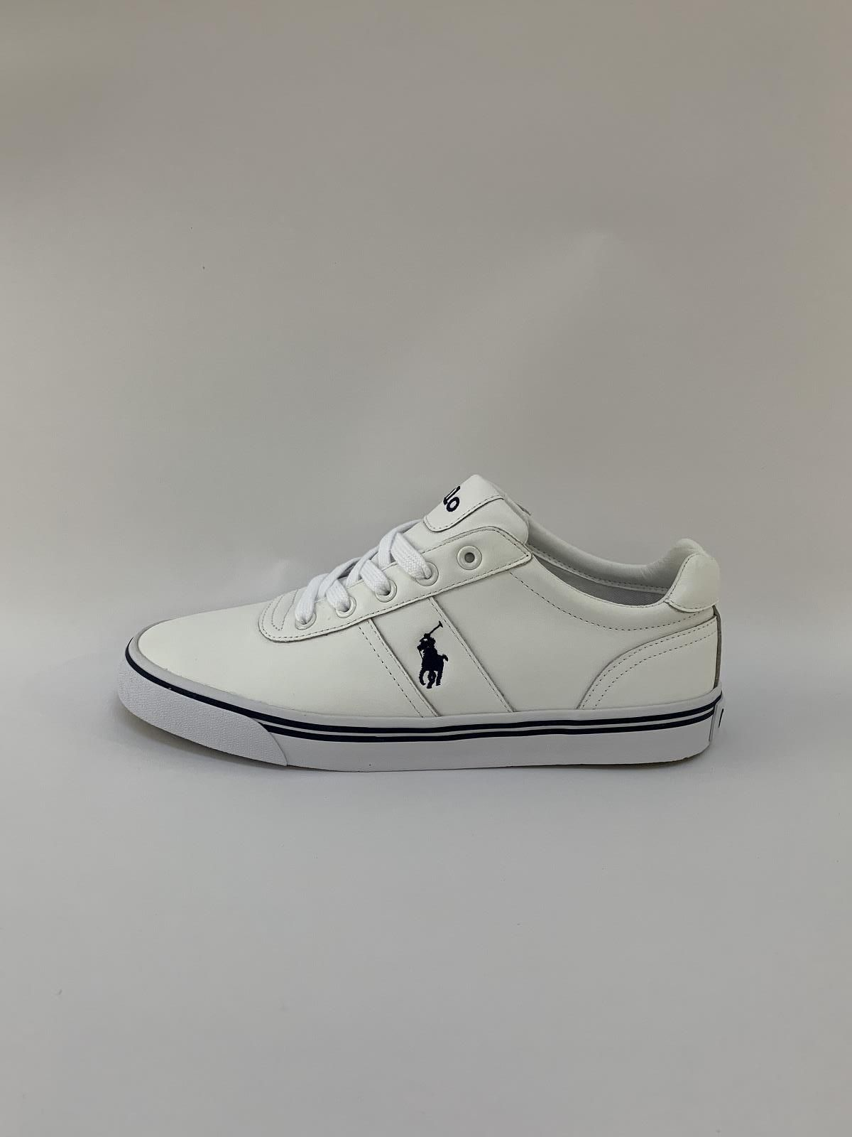 Ralph Lauren Sneaker Wit heren (Trainer Basic Polo - Hanford) - Schoenen Luca